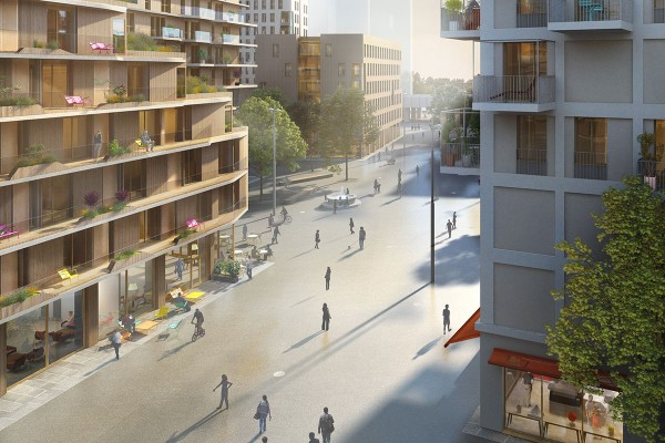 Rendering: Shops at aspern Seestadt