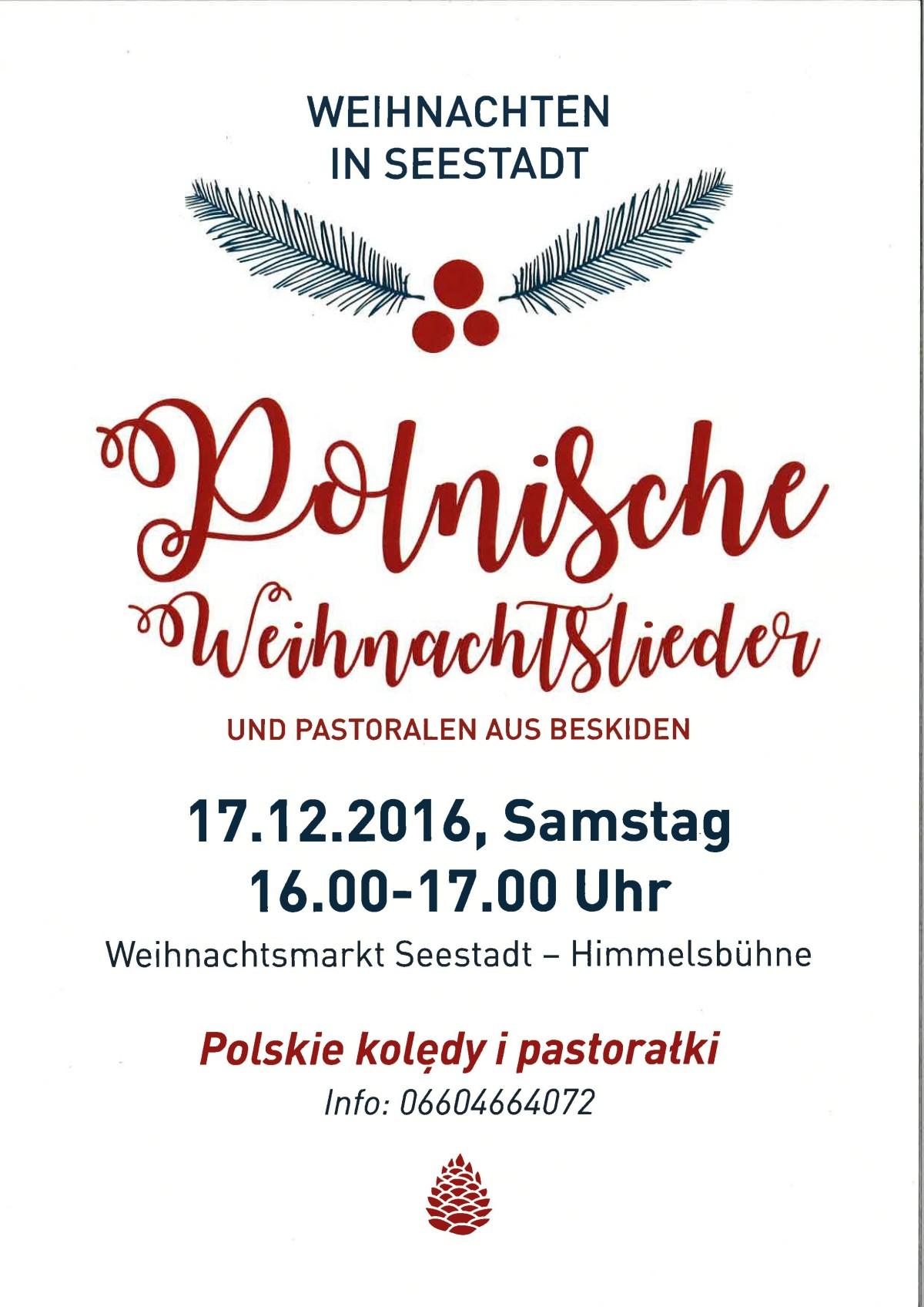 Polnische Weihnachtslieder Texte.Polskie Kol Dy Polnische Weihnachtslieder Aspern Die Seestadt Wiens