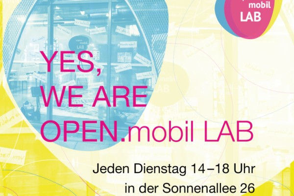 Yes We Are OPEN.mobil LAB
