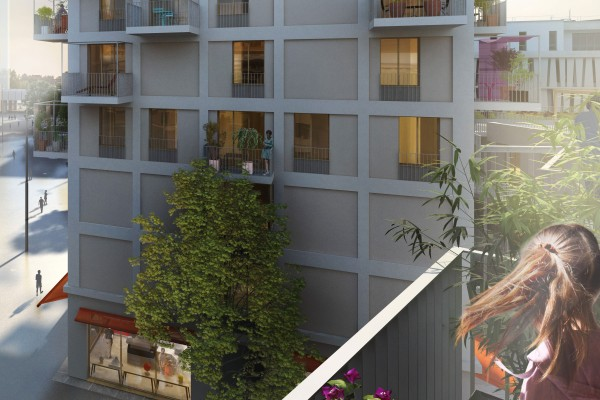 Rendering: View from a balcony